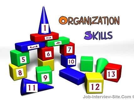Organizational skills to put on resume